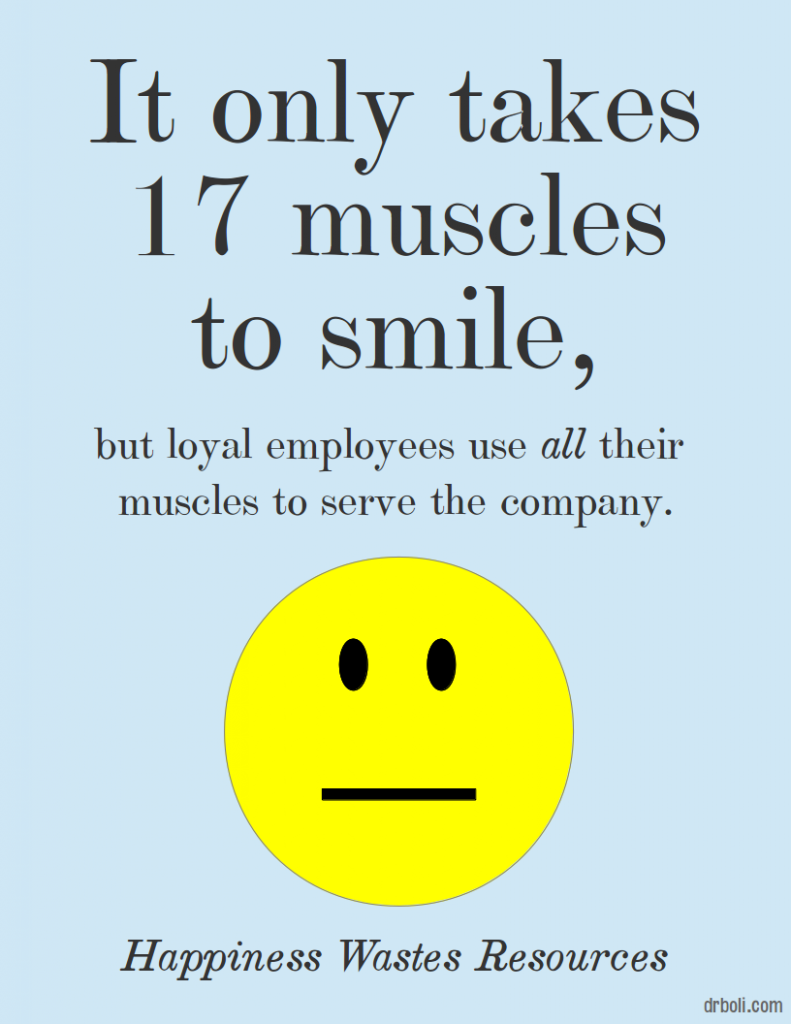 happiness-wastes-resources-muscles-to-smile