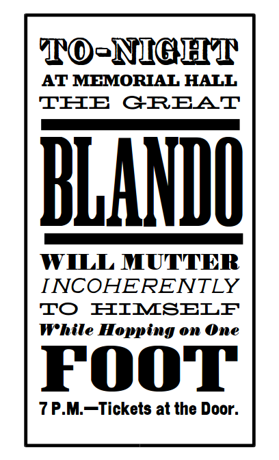 blando-mutter-incoherently-hopping-one-foot