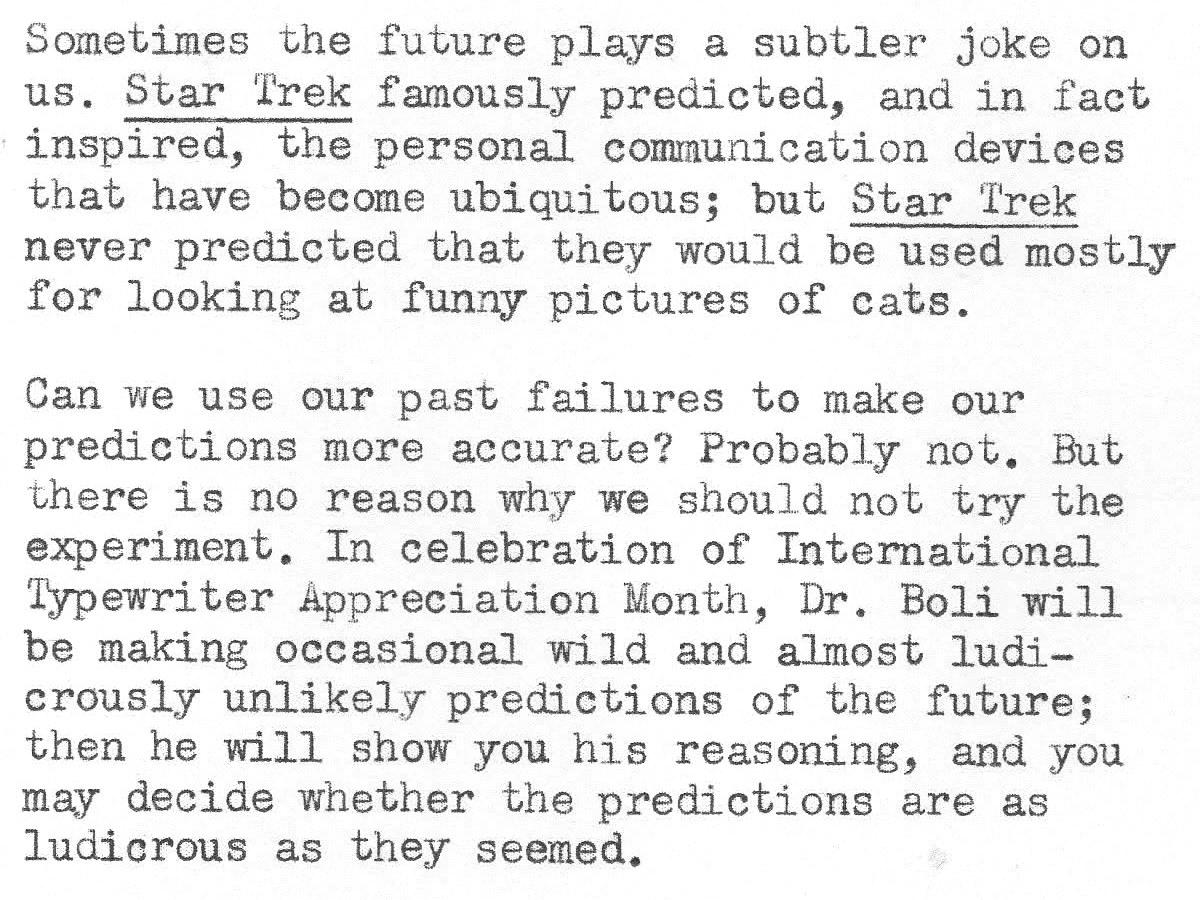 Predicting the Future 03