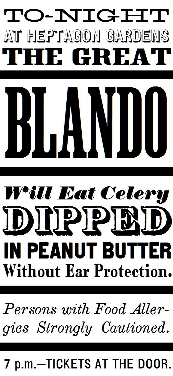 Blando Eats Celery Dipped in Peanut Butter