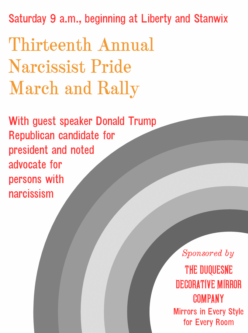 Narcissist Pride March and Rally