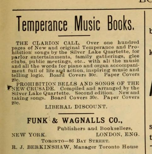 Temperance Music Books