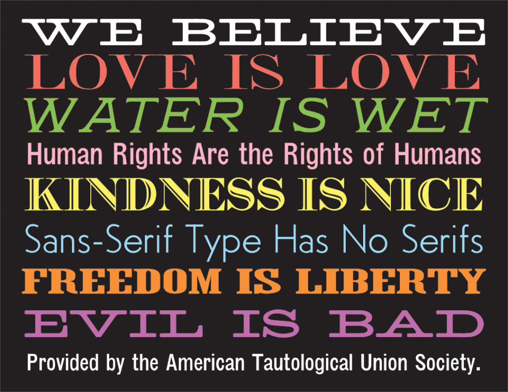 we-believe-yard-sign-american-tautological-union-society
