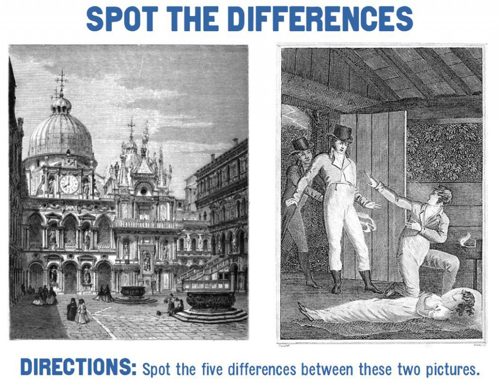 Spot the five differences.